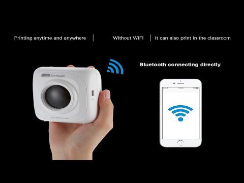 Portable Wireless or Bluetooth 4 0 Photo Printer