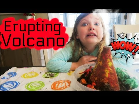 HOW TO MAKE A VOLCANO EXPLOSION! KIDS SCIENCE EXPERIMENT