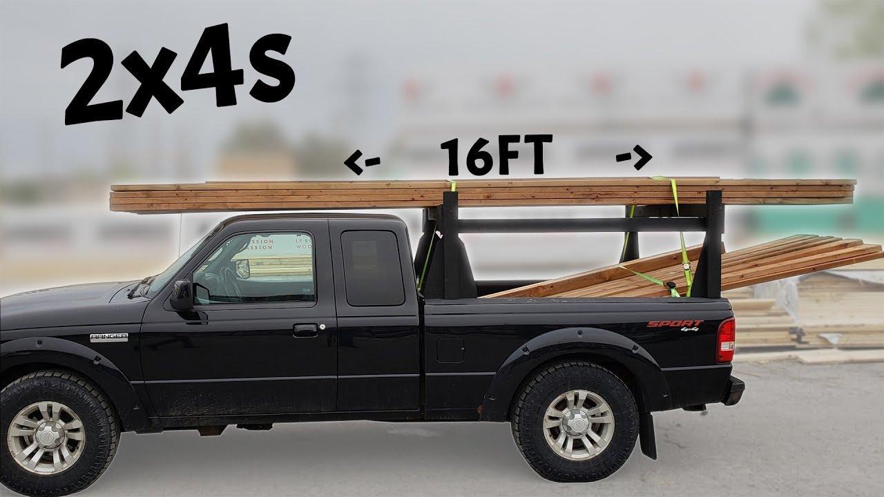 Homemade 2x4s Wood Truck Rack - Heavy Duty