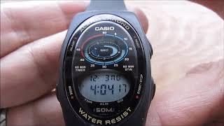 Casio W-90 Module 864 Alarm Chronograph Digital Watch