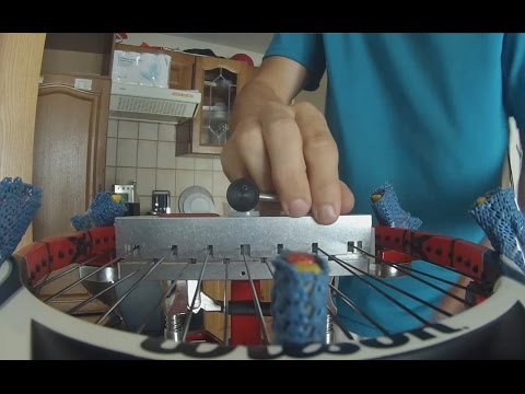 How to string a tennis racquet crosses