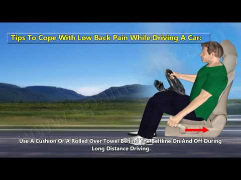 Back Pain While Driving, Sitting & Standing - Coping Tips