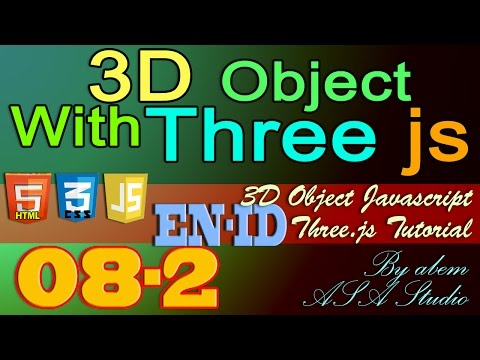 3D Object With Three Js, 8, Create Camera Control with Mouse Part 2, Javascript Tutorial