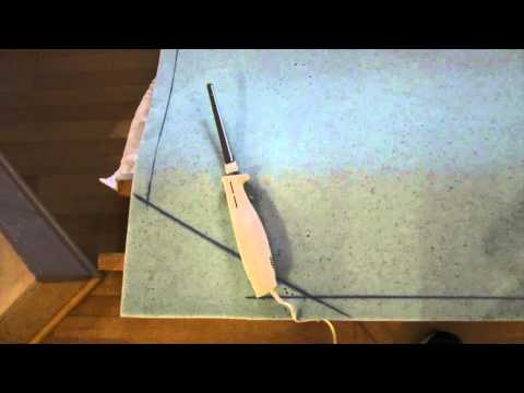 RV bed revisited. How to cut foam with a carving knife.