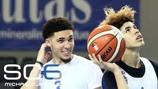 LaMelo and LiAngelo Ball get a