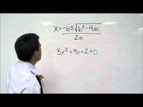 Algebra - Solving Using the Quadratic Formula
