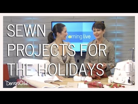 Sewn Project Ideas For The Holidays (Morning Live)