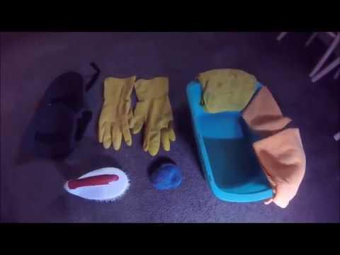 How to strip wax from vinyl floor