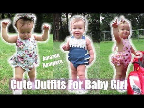 Cute Amazon Baby Rompers/ Baby Girl Look Book/ JDezTV
