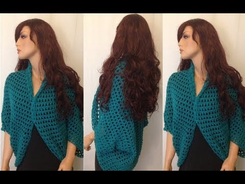 How to Crochet a Shrug, Bolero Pattern #123│by ThePatternFamily