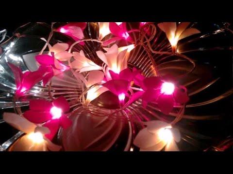How to make Paper flower Frangipani \ Plumeria lights (Flower # 55)