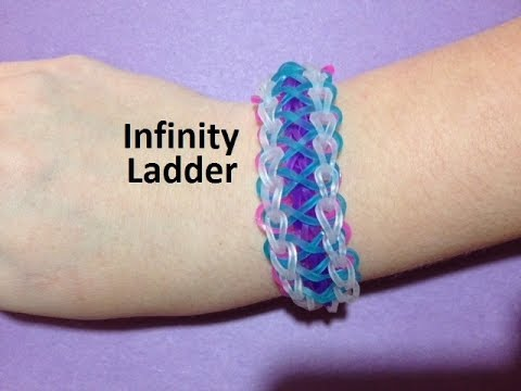 How to Make an Infinity Ladder Bracelet on the Rainbow Loom - Original Design