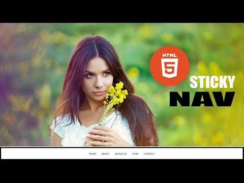 Sticky Navigation bar From bottom to Top || Html 5 and javascript
