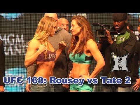 Ufc 168 Ronda Rousey Vs Miesha Tate 2 Weigh Ins Staredown Hd
