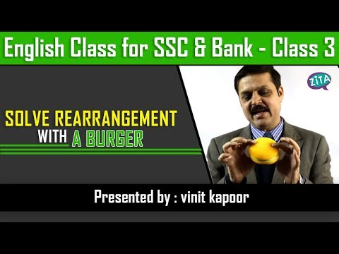 How to Solve Rearrangement in Banking/SSC|Solving Parajumble with a Burger| By Vinit Kapoor