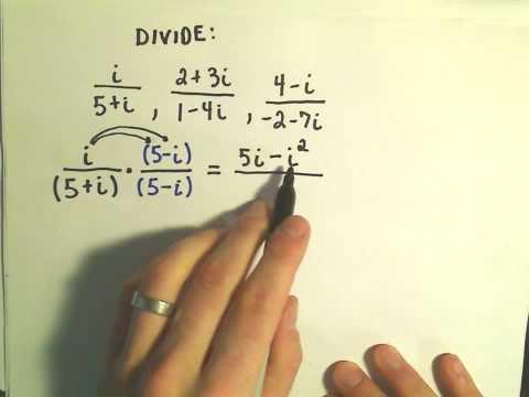 Complex Numbers: Dividing - Ex 1