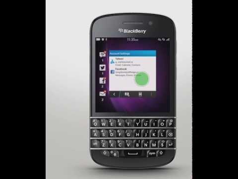 demo blackberry10 configurare email