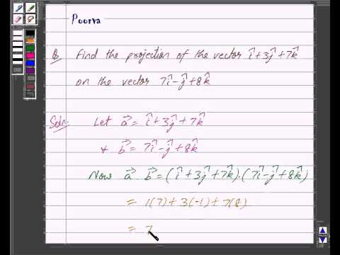 Example:Finding Projection of a Vector