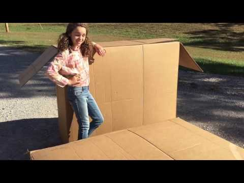 BUILDING A PLAYHOUSE from a box, Family Fun