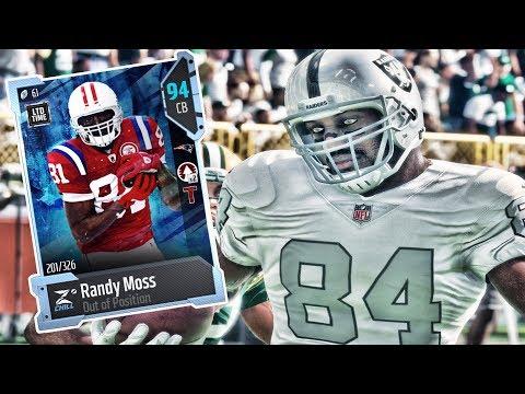 RANDY MOSS ON DEFENSE!! BEST MADDEN CARD EVER | MADDEN 18 ULTIMATE TEAM GAMEPLAY EPISODE 46