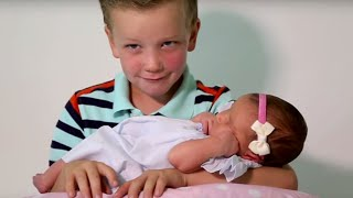 Six Brothers REACT To Meeting Their Baby Sister | What