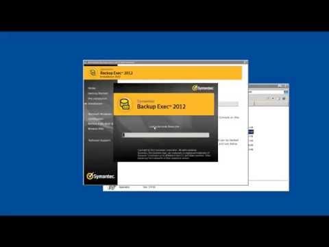 How to install Symantec Backup Exec 2012 on Windows Server