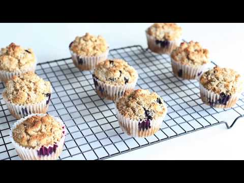 DELICIOUS Whole Grain Blueberry Muffins