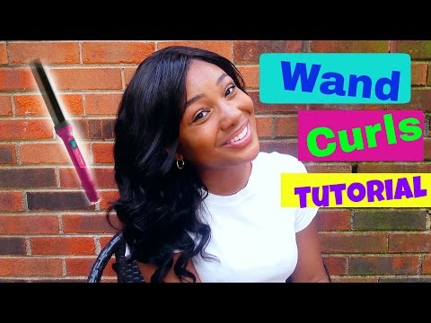 How To Curl Weave & Wigs | QUICK SUMMER CURLS || Curling Wand Tutorial!