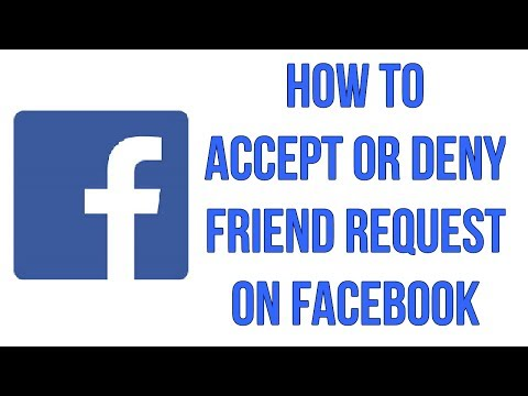 How To Accept Or Deny Friend Request On Facebook