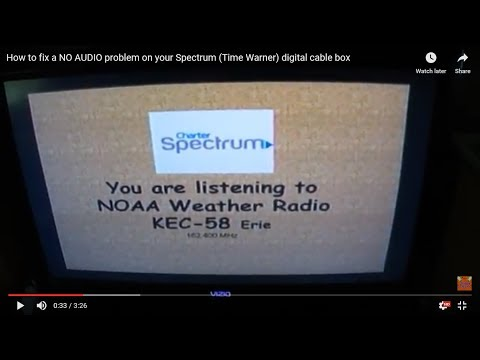 How to fix a NO AUDIO problem on your Spectrum (Time Warner) digital cable box