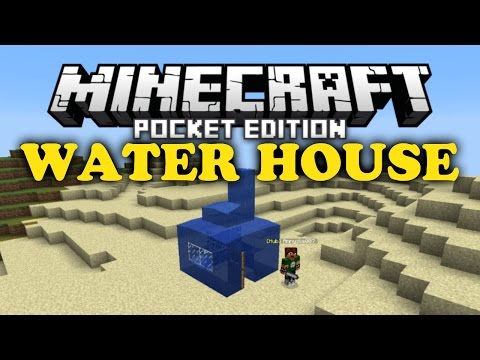 ✔ Water House Trick - Minecraft PE