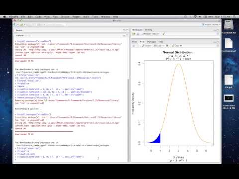 Visualize - An R Extension Package to Explore Probability Distributions