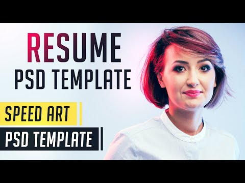 Free Resume Template | Photoshop Speed Art | Free PSD Template