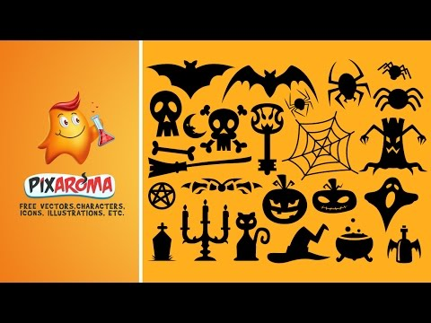Halloween Vector Shapes Set - Illustrator and Photoshop Tutorial