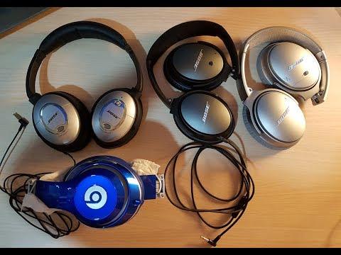 Bose Comparison QC15, QC25 VS QC35 & Beats Studio Review