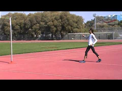 High jump drill - Connecting the approach with take-off