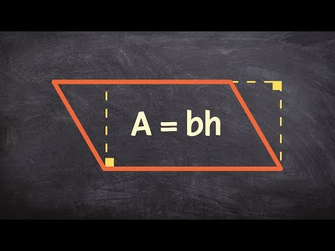 Geometry - What is the area of a parallelogram and how does it compare to a rectangle