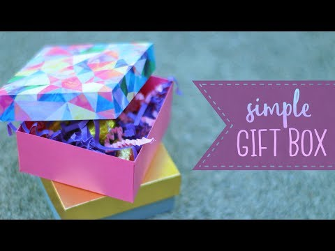 How To Make An Easy Paper Gift Box (Square)