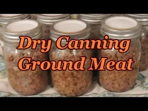 Canning Ground Meat WITHOUT BROTH