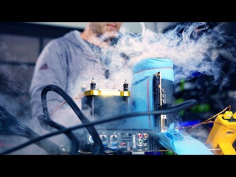 My first time Overclocking on Liquid Nitrogen - NEW WORLD RECORD!