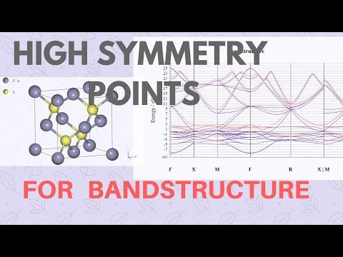 Choosing and Providing the HIGH SYMMETRY POINTS for BANDSTRUCTURE Calculation - QUANTUM ESPRESSO