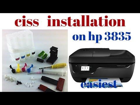 CISS installation on hp 3835 printer