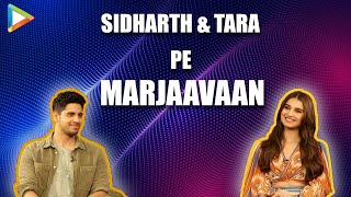 FUNNY - Sidharth & Tara Pe Marjaavaan | Dialogue-Baazi & Musical Chair | Hilarious Interview