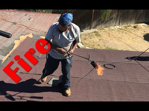 Playing with Fire  -  Using Fire on Roofing Job