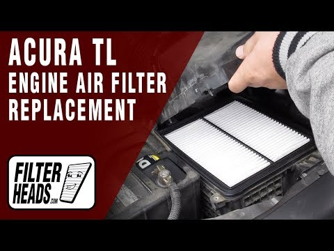 How to Replace Engine Air Filter 2010 Acura TL V6 3.5L