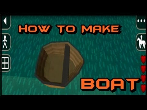 How to make a Boat in Survival Craft/ SurvivalCraft | *NEW and UPDATED *