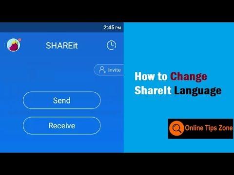 How to Change Language on shareIT App
