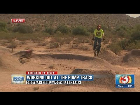 Goodyear pump track is a bike track where you don't have to pedal