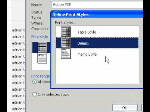 Microsoft Office Outlook 2003 Delete or reset a print style