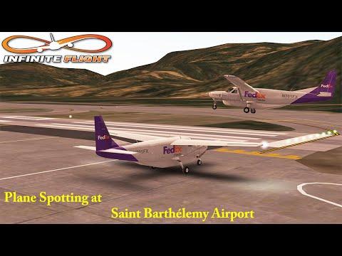 [Infinite Flight] Plane Spotting at  Saint Barthélemy Airport ᴴᴰ